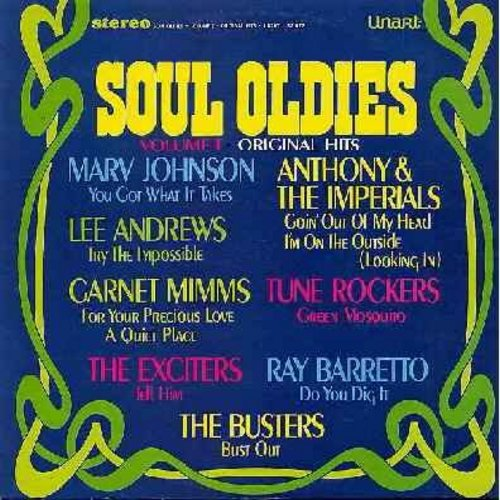 Johnson, Marv, Lee Andrews, Exciters, Busters, others - Soul Oldies Volume I: You Got What It Takes, Tell Him, Do You Dig It, Bust Out, Green Mosquito, Going Out Of My Head (vinyl STEREO LP record, NICE condition!) - M10/NM9 - LP Records