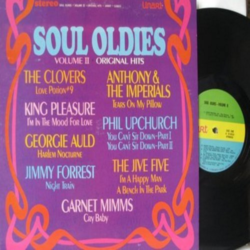 Clovers, Jive Five, Anthony & The Imperials, others - Soul Oldies Volume II: Love Potion #9, Tears On My Pillow, You Can't Sit Down, Night Train, A Bench In The Park (vinyl STEREO LP record) - NM9/NM9 - LP Records