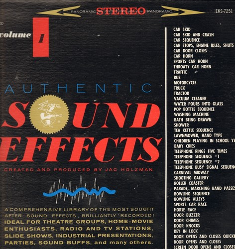 Authentic Sound Effects - Authentic Sound Effects Vol. 1: Created and produced by Jac Holzman (vinyl STEREO LP record) - M10/EX8 - LP Records