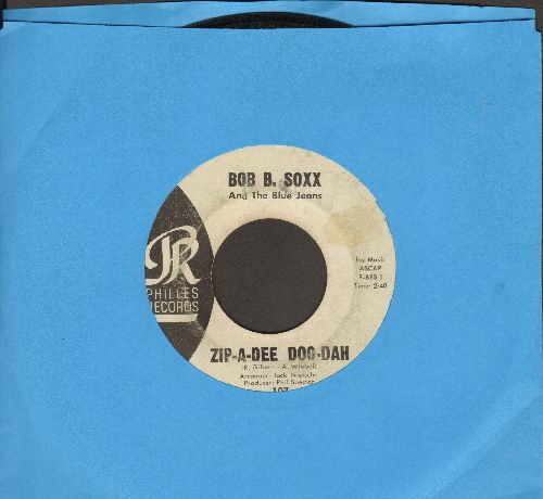 Soxx, Bob B. & The Blue Jeans - Zip-A-Dee Doo-Dah/Flip And Nitty (light blue label early issue) (wol, sol) - VG7/ - 45 rpm Records