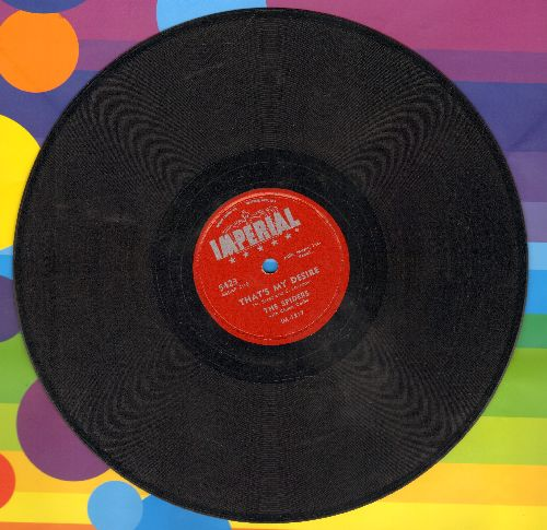 Spiders - That's My Desire/Honey Bee (10 inch 78 rpm record) - EX8/ - 78 rpm