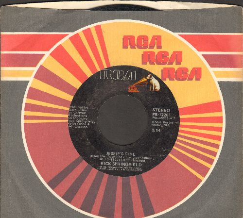 Springfield, Rick - Jessie's Girl/Carry Me Away (with RCA company sleeve) - VG7/ - 45 rpm Records