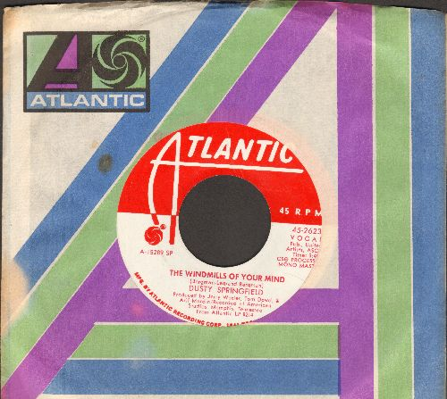 Springfield, Dusty - The Windmills Of Your Mind/I Don't Want To Heart It Anymore (DJ advance pressing with Atlantic company sleeve) - EX8/ - 45 rpm Records