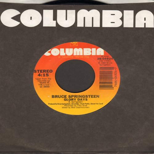 Springsteen, Bruce - Glory Days/Stand On It (with Columbia company sleeve) - EX8/ - 45 rpm Records