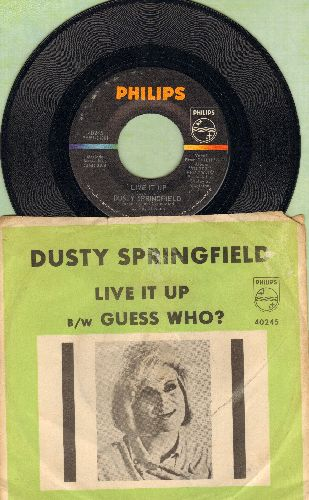 Springfield, Dusty - Guess Who?/Live It Up (with picture sleeve) - NM9/VG6 - 45 rpm Records