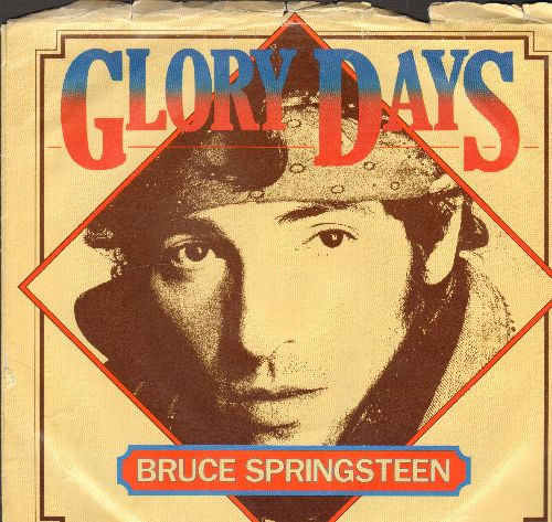 Springsteen, Bruce - Glory Days/Stand On It (with Columbia picture sleeve) - EX8/EX8 - 45 rpm Records