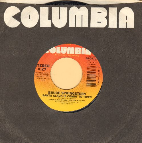 Springsteen, Bruce - Santa Claus Is Comin' To Town/My Hometown (with Columbia company sleeve) - EX8/ - 45 rpm Records