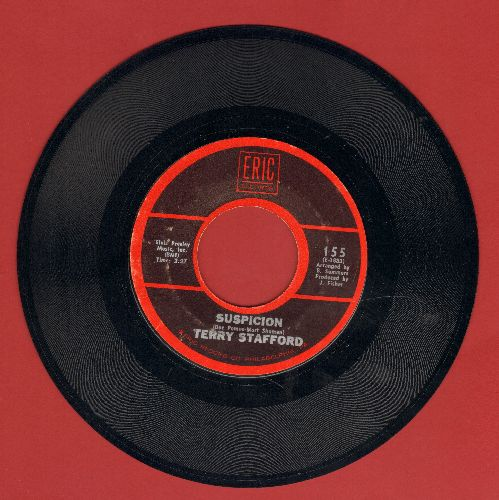 Stafford, Terry - Suspicion/I'll Touch A Star (double-hit re-issue by Elvis Presley Sound-Alike!)  - NM9/ - 45 rpm Records
