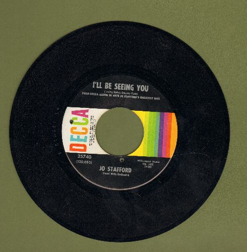 Stafford, Jo - I'll Be Seeing You/Make Love To Me (bb, sol) - NM9/ - 45 rpm Records