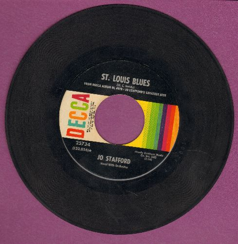 Stafford, Jo - St. Louis Blues/Ain'tcha Comin' Out T-Tonight - VG7/ - 45 rpm Records