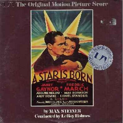A Star Is Born - A Star Is Born - Original Motion Picture Sound Track from the 1937 film starring Janet Gaynor and Fredric March (vinyl MONO LP record, 1975 issue of vintage recordings, NICE movie-poster style cover art! - SEALED, never opened! - SEALED/S