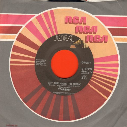 Starship - Set The Night To Music/I Don't Know Why - NM9/ - 45 rpm Records