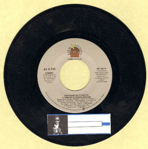 Stars On 45 - A Tribute To Stevie Wonder/Stars On 45 Get Ready III - NM9/ - 45 rpm Records