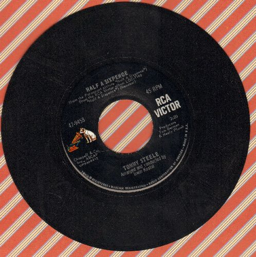 Steele, Tommy - Half A Sixpence/If The Rain's Got To Fall (both songs featured in film -Half A Sixpence-) - NM9/ - 45 rpm Records