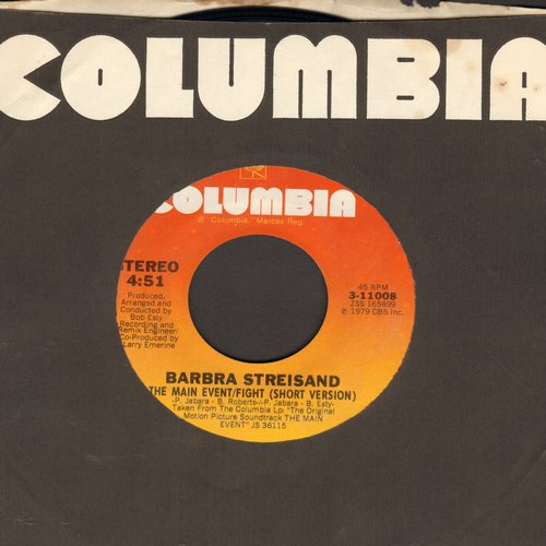 Streisand, Barbra - The Main Even/Fight (Vocal & Instrumental version) - NM9/ - 45 rpm Records