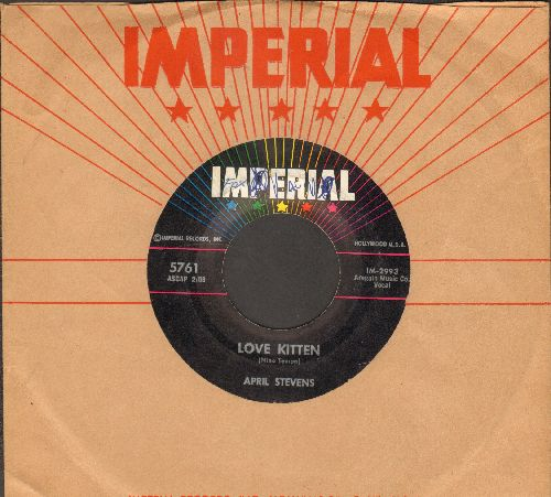 Stevens, April - Love Kitten (EXTREMELY RARE follow-up to -Teach Me Tiger-)/You And You Alone (with vintage Imperial company sleeve) (minor wol) - EX8/ - 45 rpm Records