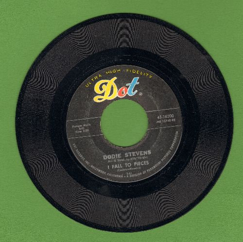 Stevens, Dodie - I Fall To Pieces/Turn Around  - VG7/ - 45 rpm Records