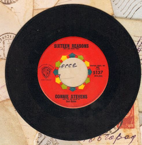 Stevens, Connie - Sixteen Reasons (Why I Love You)/Little Sister  - EX8/ - 45 rpm Records