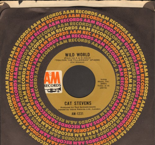 Stevens, Cat - Wild World/Miles From Nowhere (with A&M company sleeve) - EX8/ - 45 rpm Records