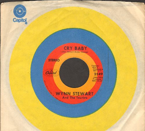 Stewart, Wynn - Cry Baby/World-Wide Travelin' Man (with Capitol company sleeve) - EX8/ - 45 rpm Records