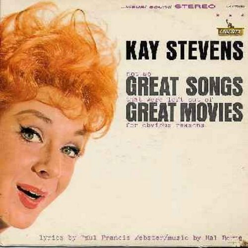 Stevens, Kay - Great Songs - Great Moves: The Ugly American (or Cranky Yakee Hanky Panky), Cleopatra (the most expensive song in this album) Splendor In The Grass (Lawn Parties Can Be Fun), Whatever Happened To Baby Jane? (Good Question!) (vinyl STEREO LP