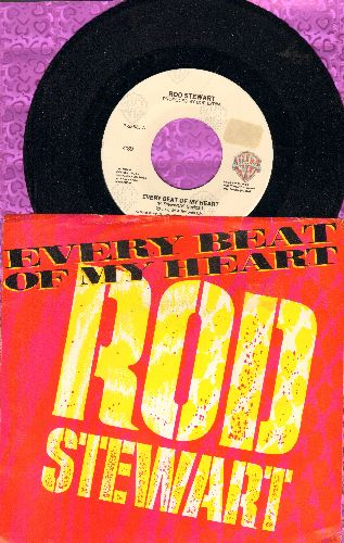 Stewart, Rod - Every Beat Of My Heart/Trouble (with picture sleeve) - NM9/EX8 - 45 rpm Records