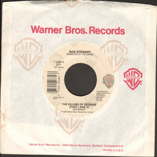 Stewart, Rod - The Killing Of Georgie (Parts 1 + 2)/Downtown Train (with juke box label) - NM9/ - 45 rpm Records