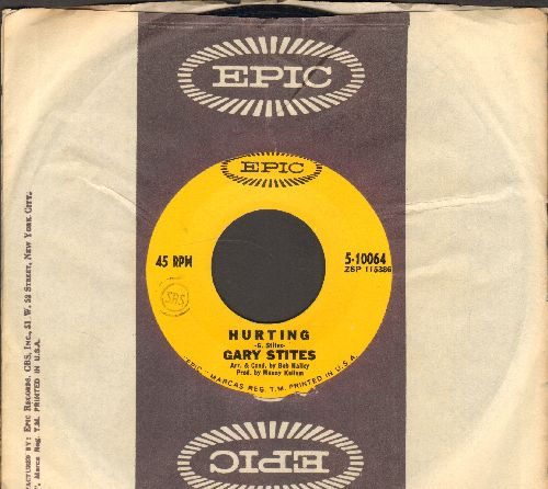 Stites, Gary - Hurting/Thinking Of You (with Epic company sleeve) - NM9/ - 45 rpm Records