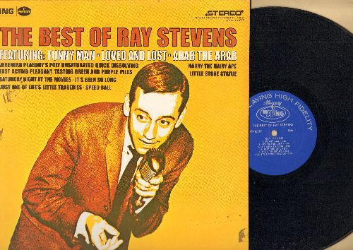 Stevens, Ray - The Best Of: Ahab The Arab, Jeremiah Peabody's Poly Unsaturated Quick Dissolving Fast Acting Pleasant Tasting Green And Purple Pills (vinyl STEREO LP record) - NM9/NM9 - LP Records