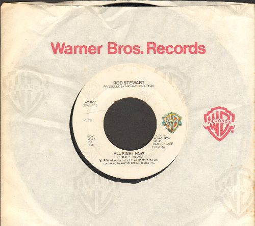 Stewart, Rod - All Right Now/Dancin' Alone (with Warner Brothers company sleeve) - EX8/ - 45 rpm Records