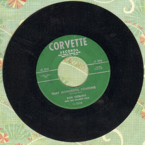Sterling, Don - That Wonderful Someone/Two Shades Of Blue (RARE 1958 first pressing) - EX8/ - 45 rpm Records