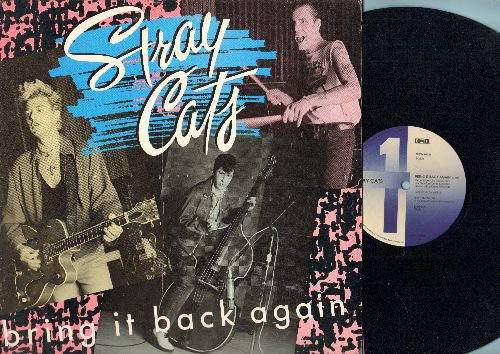 Stray Cats - Bring It Back Again - 12 inch vinyl Maxi Single, double-A-sided DJ pressing with picture cover) - NM9/NM9 - Maxi Singles