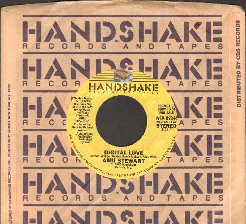 Stewart, Amii - Digital Love (DJ advance pressing with Handshake company sleeve) - M10/ - 45 rpm Records
