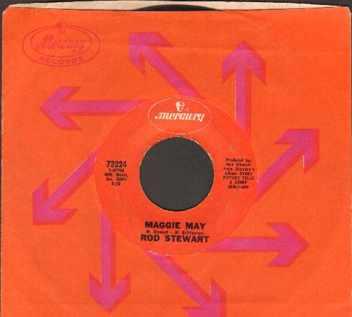 Stewart, Rod - Maggie May/Reason To Believe (with Mercury company sleeve)(wol) - VG7/ - 45 rpm Records