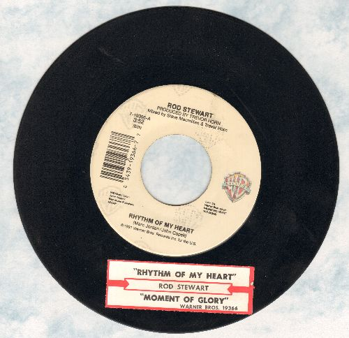 Stewart, Rod - Rhythm Of My Heart (in the style of Scottish folk-songs, NICE!)/Moment Of Glory (with juke box label) - EX8/ - 45 rpm Records