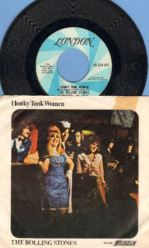 Rolling Stones - Honky Tonk Women/You Can't Always Get What You Want (with picture sleeve) - EX8/VG7 - 45 rpm Records