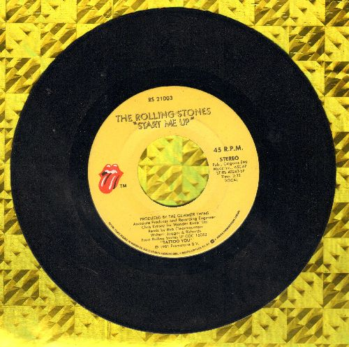 Rolling Stones - Start Me Up/No Use In Crying  - VG7/ - 45 rpm Records