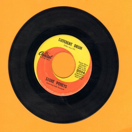 Ronstadt, Linda - Different Drum/I've Got To Know (billed as Stone Poneys Featuring Linda Ronstadt)  - EX8/ - 45 rpm Records