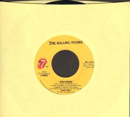 Rolling Stones - Shattered/Everything's Turning To Gold - EX8/ - 45 rpm Records