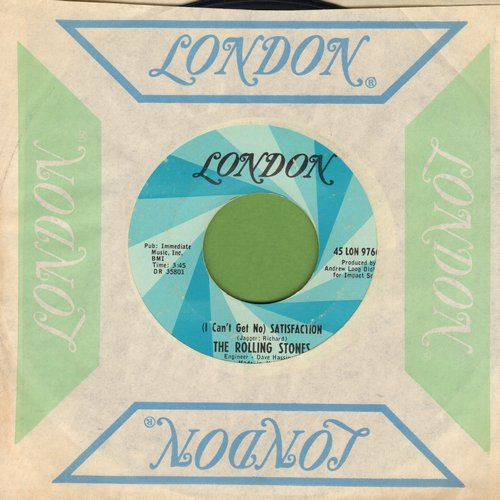 Rolling Stones - I Can't Get No Satisfaction/The Under Assistant West Coast Promotion Man (with vintage London company sleeve) - VG7/ - 45 rpm Records