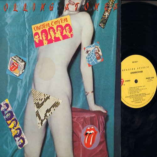 Rolling Stones - Undercover: She Was Hot, Pretty Beat Up, Too Tough, All The Way Down (vinyl STEREO LP record) - EX8/VG7 - LP Records