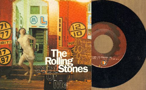 Rolling Stones - Saint Of Me/Anyway You Look At It (E.U. Pressing with picture sleeve) - NM9/NM9 - 45 rpm Records