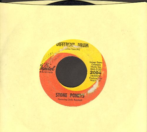 Ronstadt, Linda - Different Drum/I've Got To Know (billed as Stone Poneys Featuring Linda Ronstadt) (wol) - VG7/ - 45 rpm Records