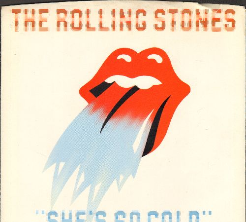 Rolling Stones - She's So Cold/Send It To Me (with picture sleeve) - EX8/NM9 - 45 rpm Records