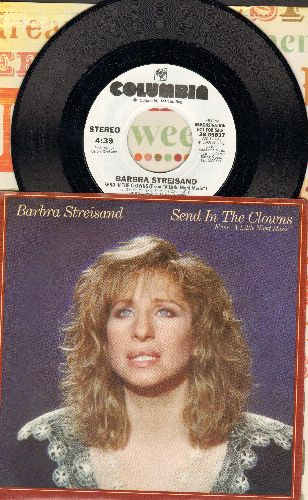 Streisand, Barbra - Send In The Clowns (double-A-sided DJ advance pressing with picture sleeve) - M10/NM9 - 45 rpm Records