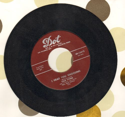 Storm, Gale - I Hear You Knocking/Never Leave Me (burgundy label first issue) - VG7/ - 45 rpm Records