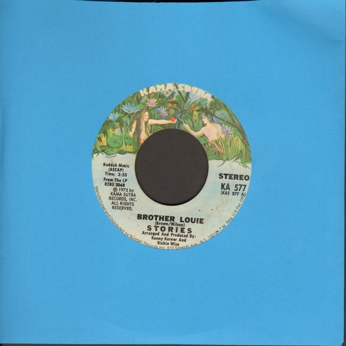 Stories - Brother Louie/What Comes After (wol) - EX8/ - 45 rpm Records