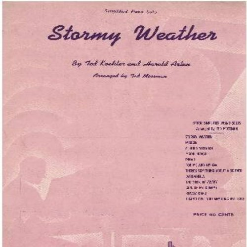 Horne, Lena - Stormy Weather - Vintage SHEET MUSIC for the Classic Love Ballad made popular by Lena Horne. (This is SHEET MUSIC, not any other kind of media!) - EX8/ - Sheet Music