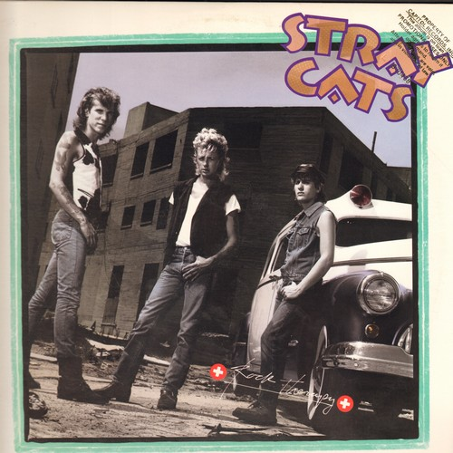 Stray Cats - Rock Therapy: Race With The Devil, I'm A Rocker, Change Of Heart, I Wanna Cry (vinyl STEREO LP record, DJ advance pressing) - NM9/EX8 - LP Records