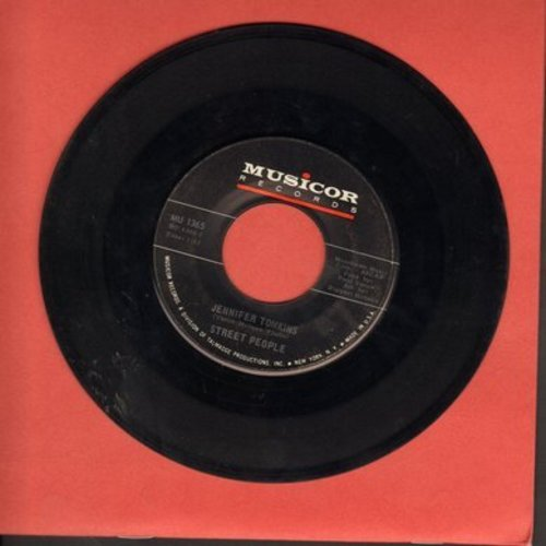 Street People - Jennifer Tomkins/All Night Long - EX8/ - 45 rpm Records